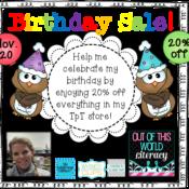 Birthday Sale!  Plus a FREEBIE