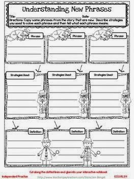 Interactive Notebook Lessons for Common Core Reading {Grae 5}