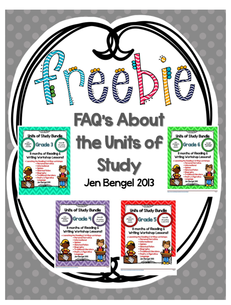 http://www.teacherspayteachers.com/Product/FAQs-About-the-Units-of-Study-Freebie-816559
