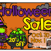 Happy Halloween SALE!!  20% off EVERYTHING