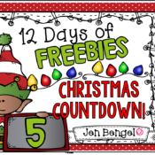 12 Days of Freebies: Day 5 AND Half Off!