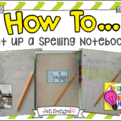 Bright Ideas: How to Set Up a Spelling Notebook