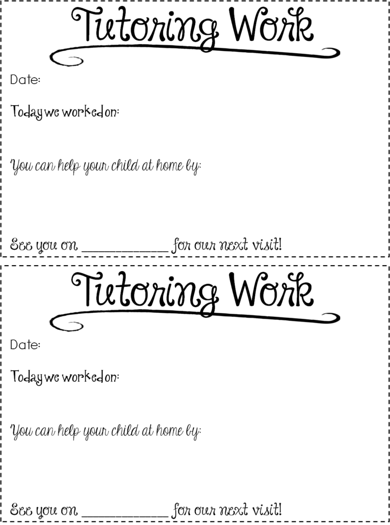 Free Tutoring Forms Tips Out Of This Word Literacy - Tutoring contract template