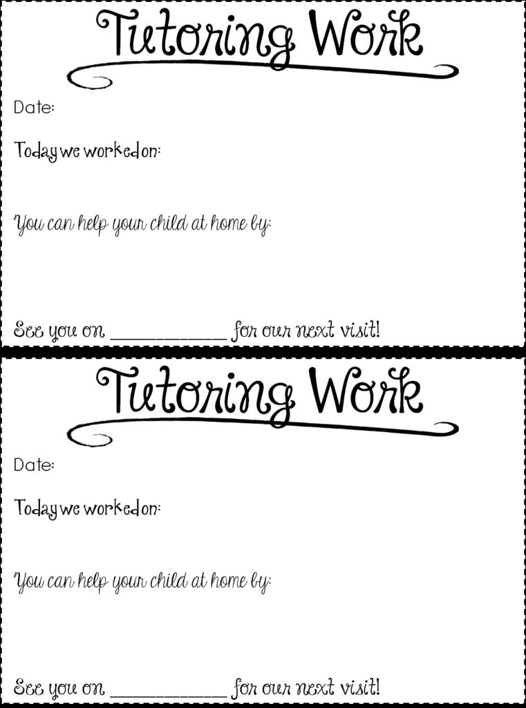 Free Tutoring Forms & Tips!