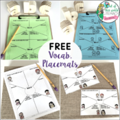 4 Creative Ways to Use Vocabulary Placemats, and a FREE Resource!