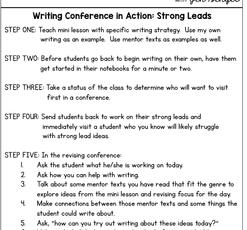 Writing Conference in Action: Strong Leads