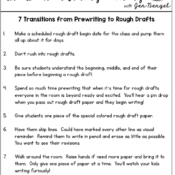 7 Transitions from Prewriting to Rough Draft with Freebies!