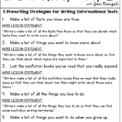 prewriting examples