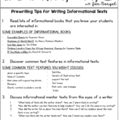 Prewriting Tips for Writing Informational Texts