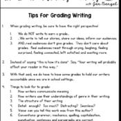 Tips for Grading Writing