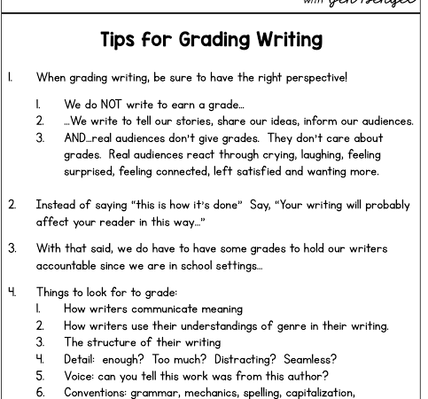 Tips for Grading Writing