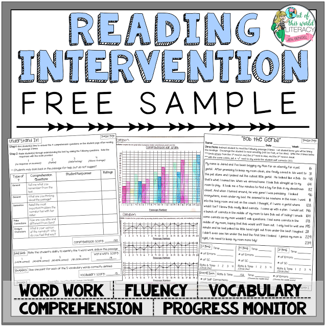 Blog - Reading intervention lesson plan template