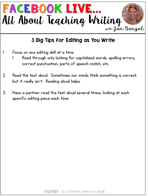 how to teach editing skills