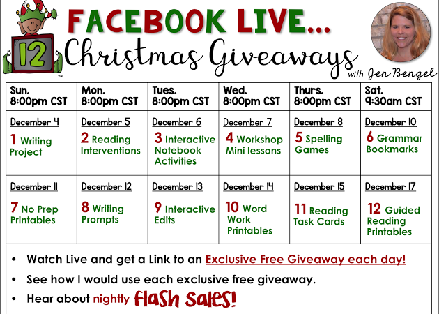 12 Days of Christmas Giveaways: Day One