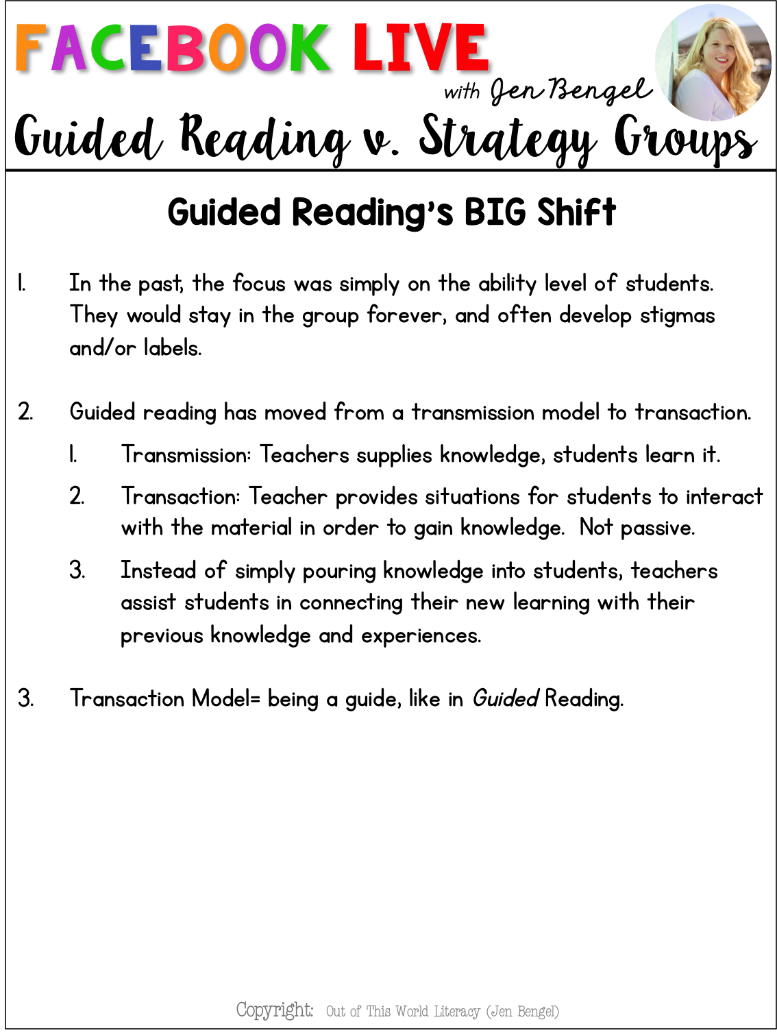 Guided Reading V Strategy Groups Out Of This Word Literacy